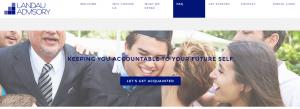 Landau Advisory website targeting millennials