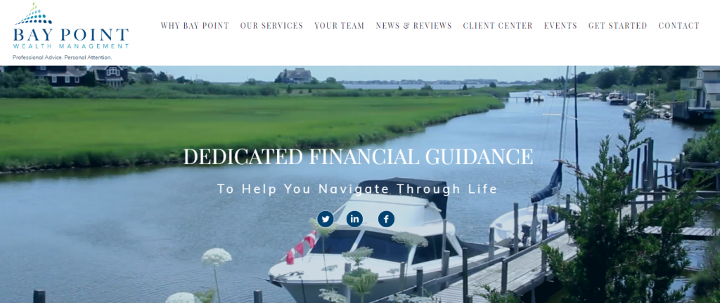 Financial advisor website showcase