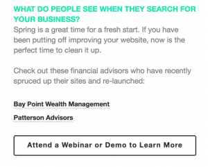 Email marketing message content best practices for financial advisors.