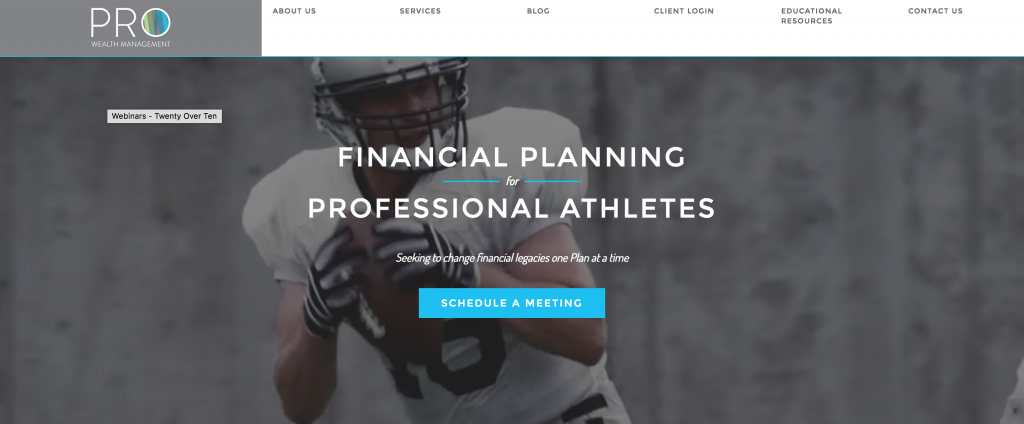 What are examples of effective financial advisor websites?