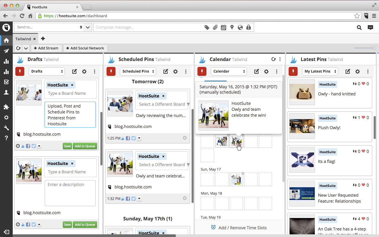 using hootsuite to schedule social media posts