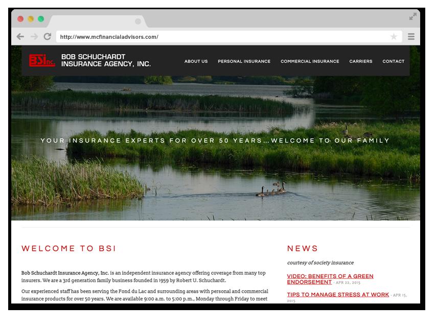 BSI Insurance's Homepage Design