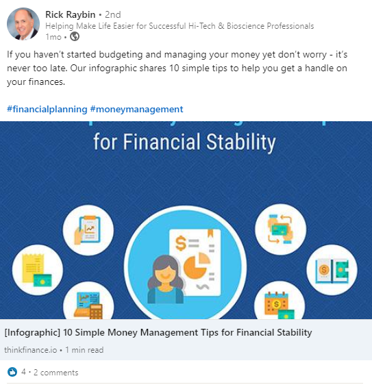Rick Rayben Budgeting Your Finances Example