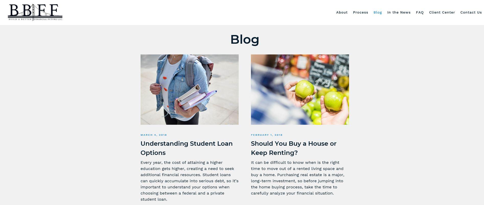 Build a Better Financial Future blog