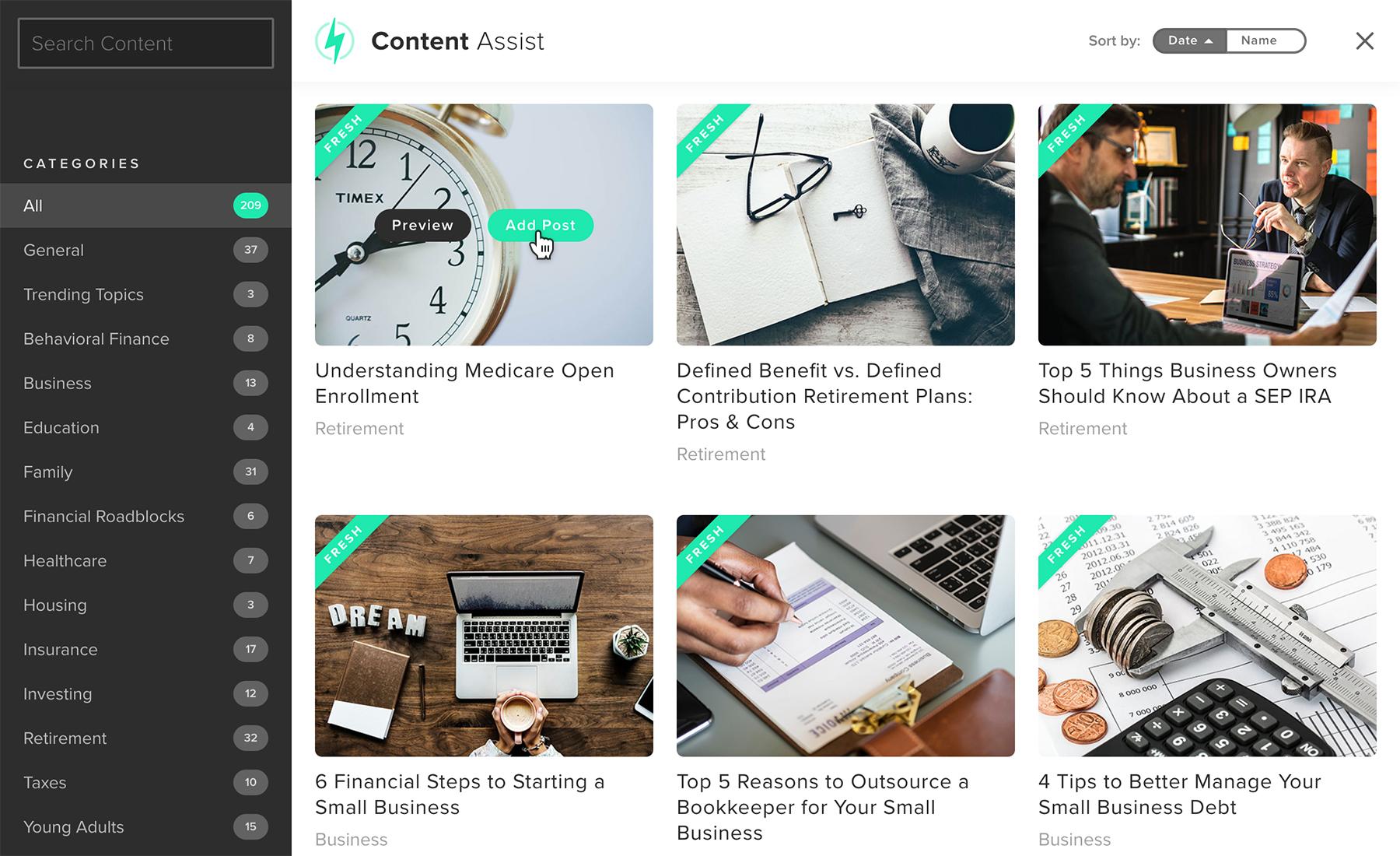 Content Assist preview