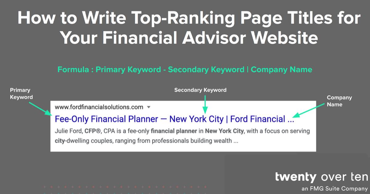 Top Ranking Page Titles-keywords