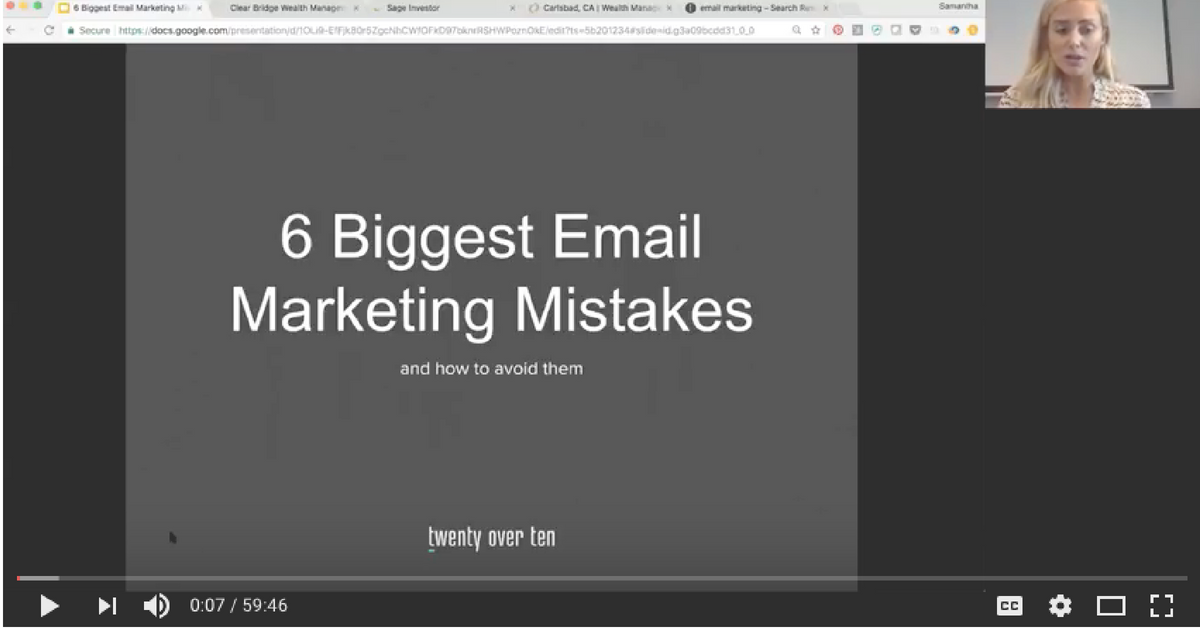6 biggest email marketing mistakes and how to avoid them free webinar by twenty over ten