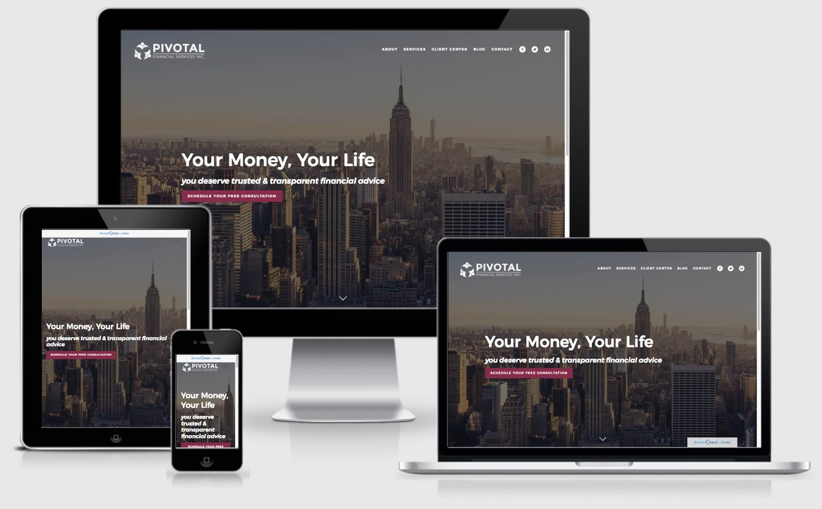 financial advisor website showcase
