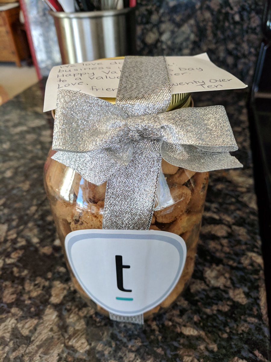 Twenty Over Ten Client Appreciation cookies