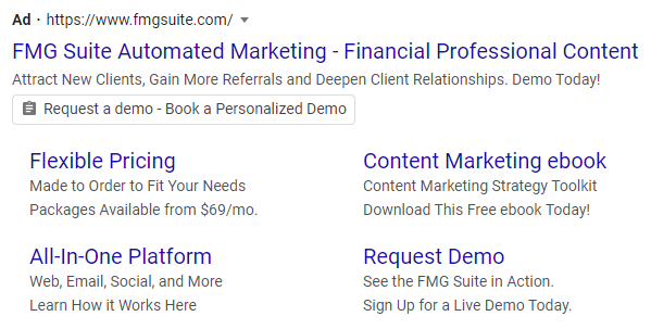 FMG Suite PPC example