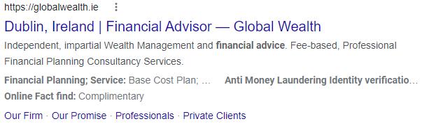 Global Wealth Google Search