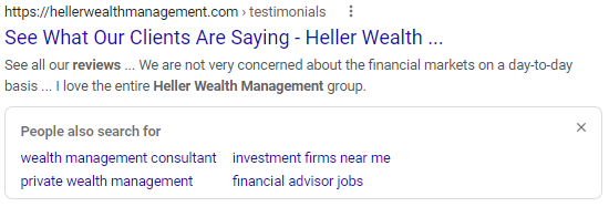 Heller Wealth Management Reviews Search