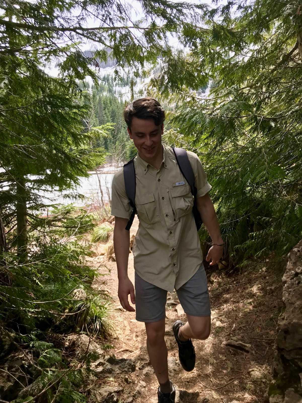 Graham hiking