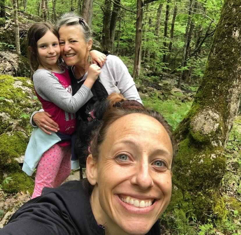 NIki and her family hiking