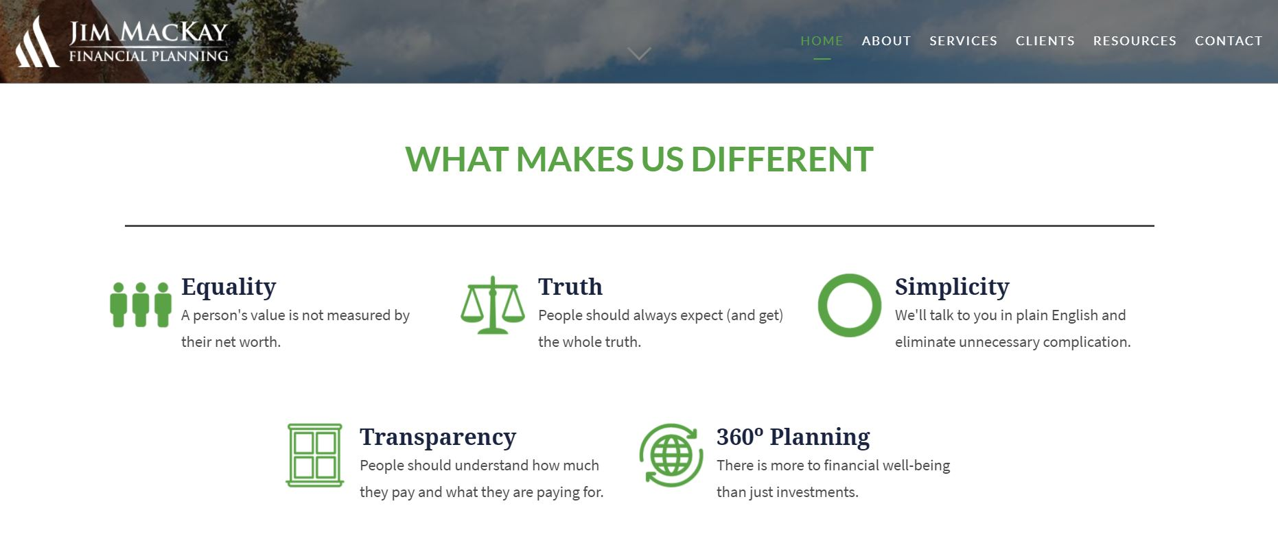 Jim MacKay Financial Planning's Website Copy