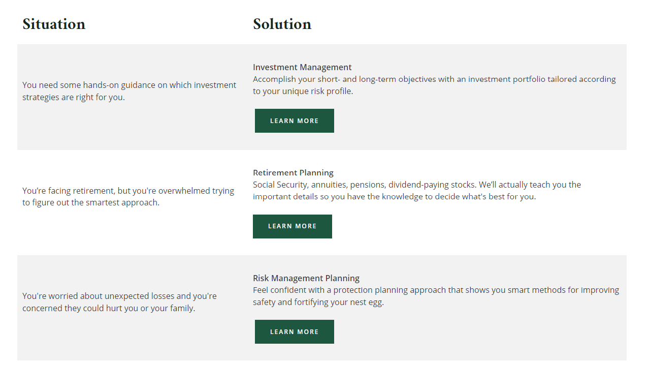 Kilpatrick Solutions page