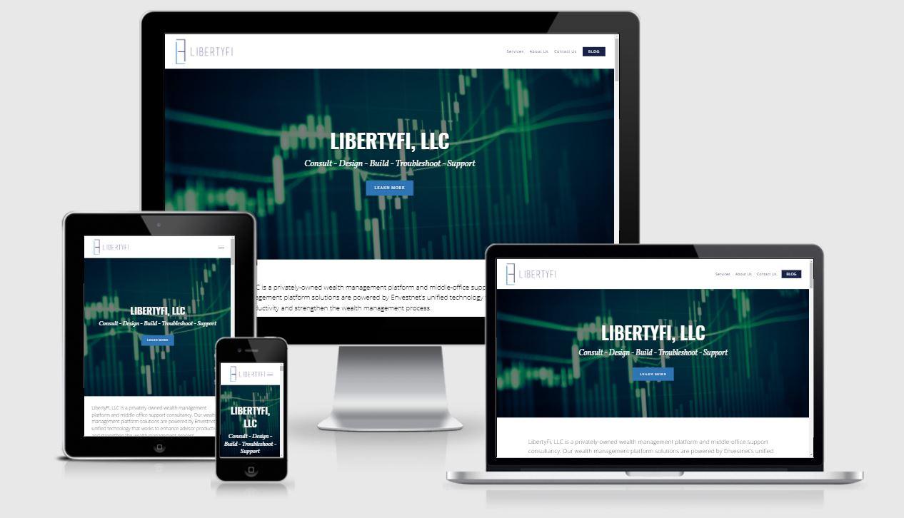 LibertyFi Mobile Responsive Financial Advisor website