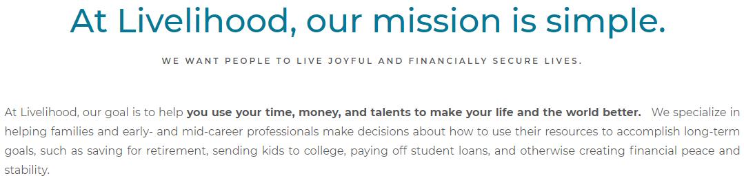 Livelihood mission examples