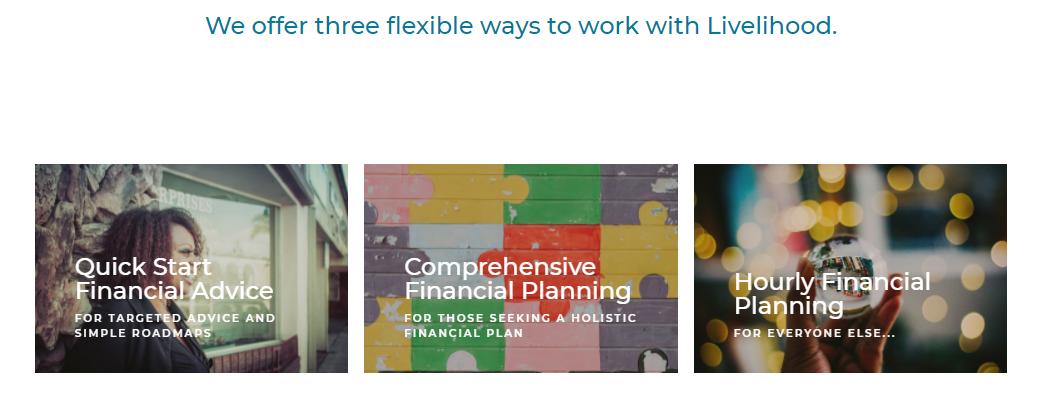 Livelihood service options example
