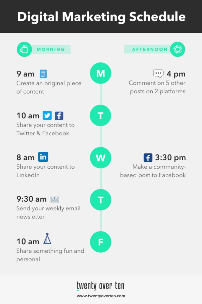 Marketing Sample Schedule