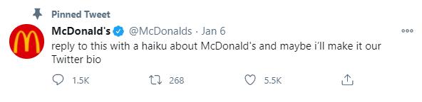 McDonalds Twitter Example