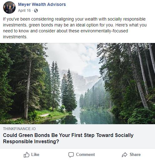 Meyer Wealth Advisors Facebook Example
