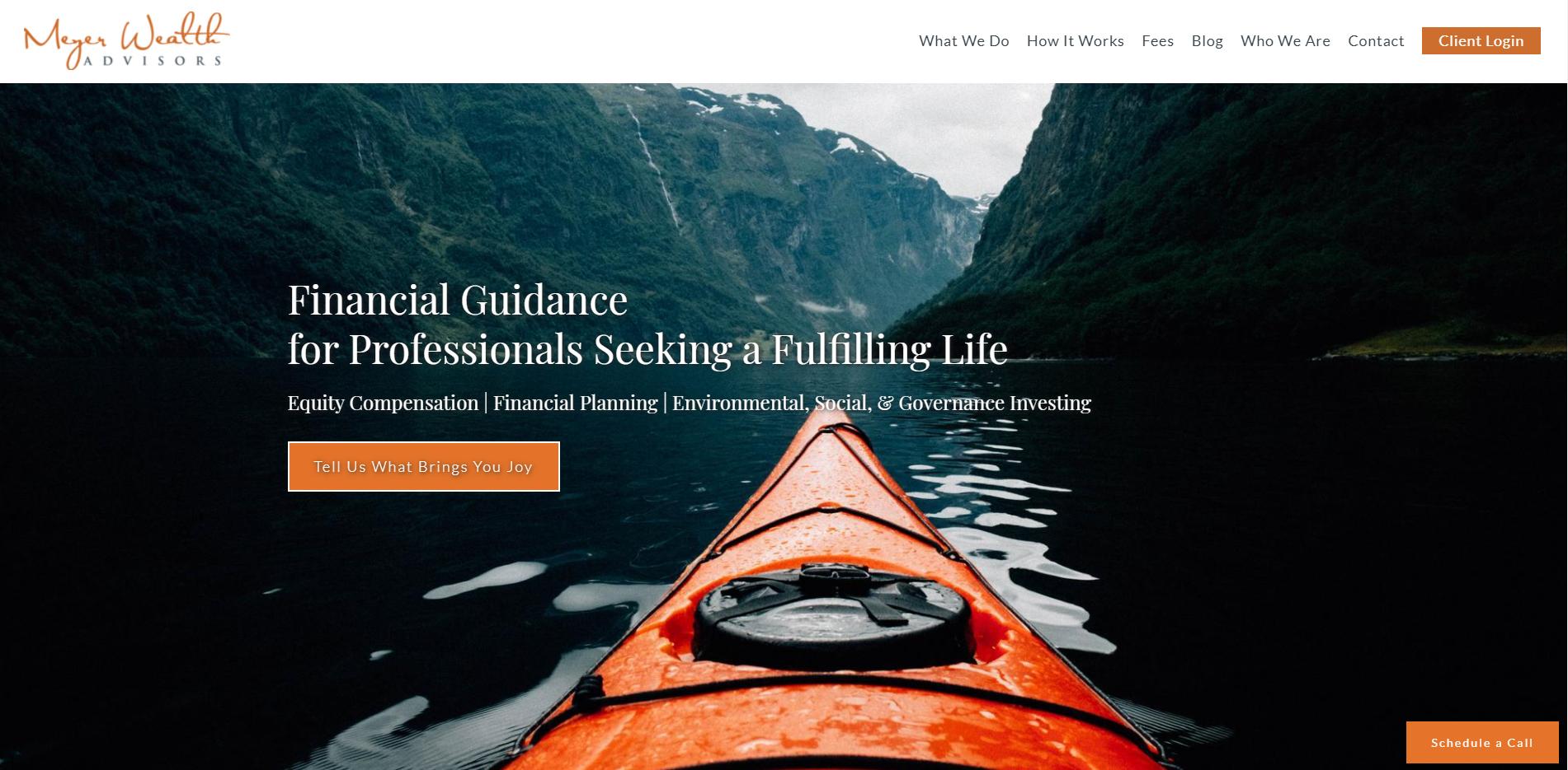 Meyer Wealth Landing Page