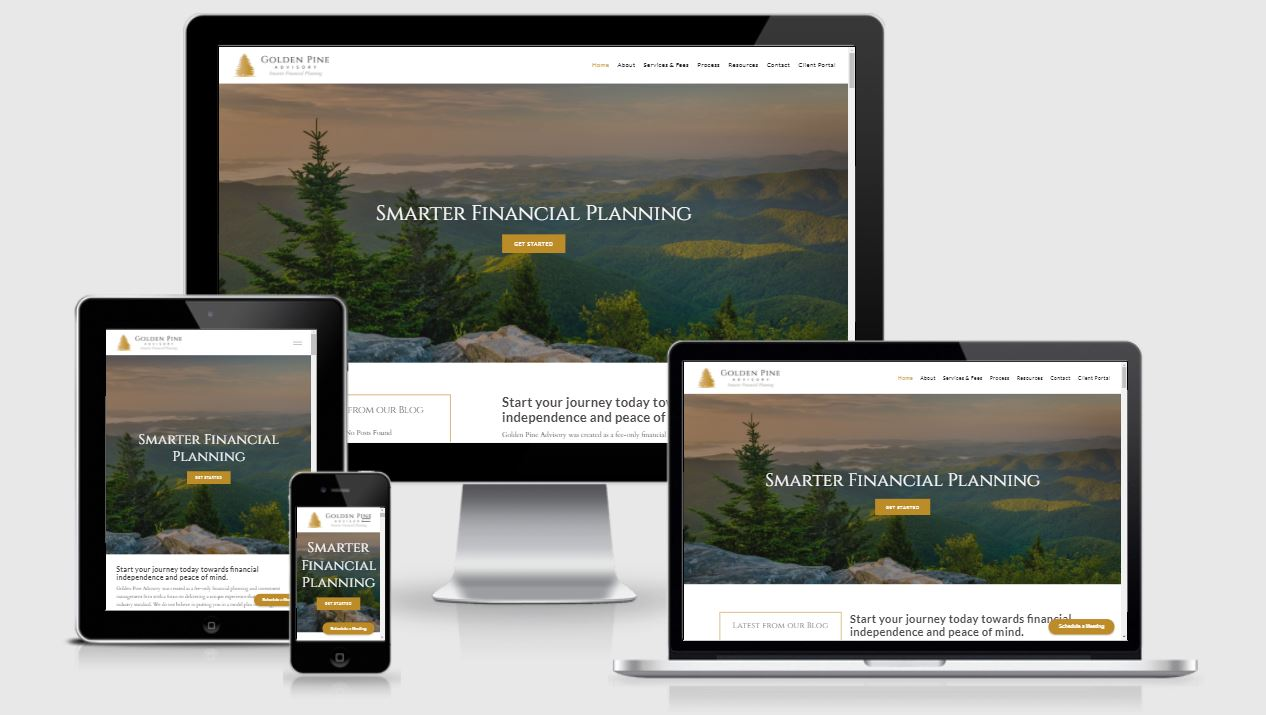 Mobile Responsive Website Golden Pine Advisory