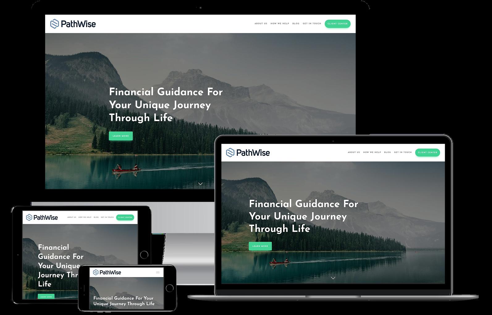 Pathwise best financial advisor websites built by twenty over ten