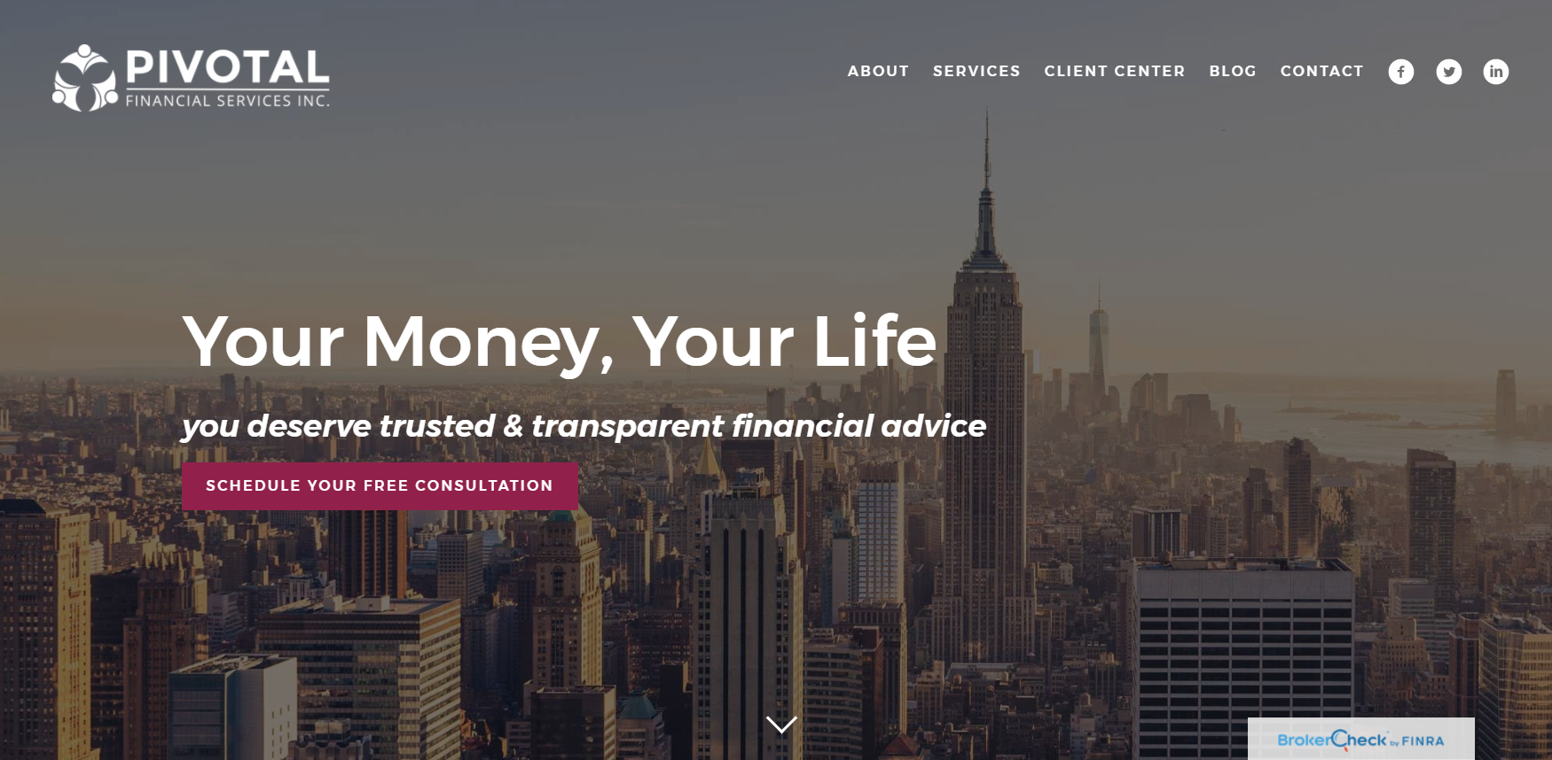 Pivotal Financial Services Home Website