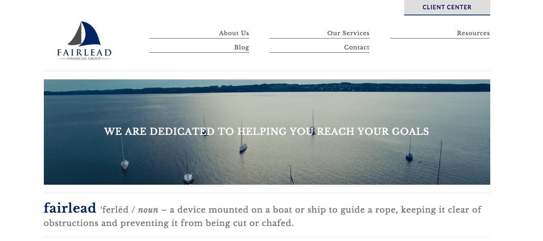 sailboats, fairlead financial group