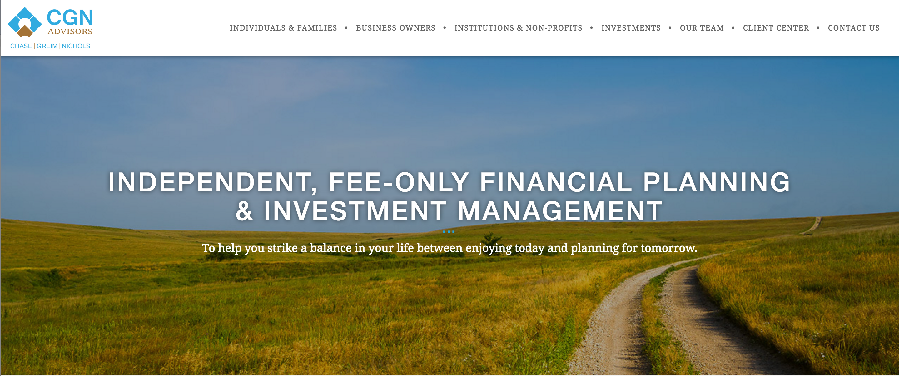 Financial Advisor Website Example: CGN