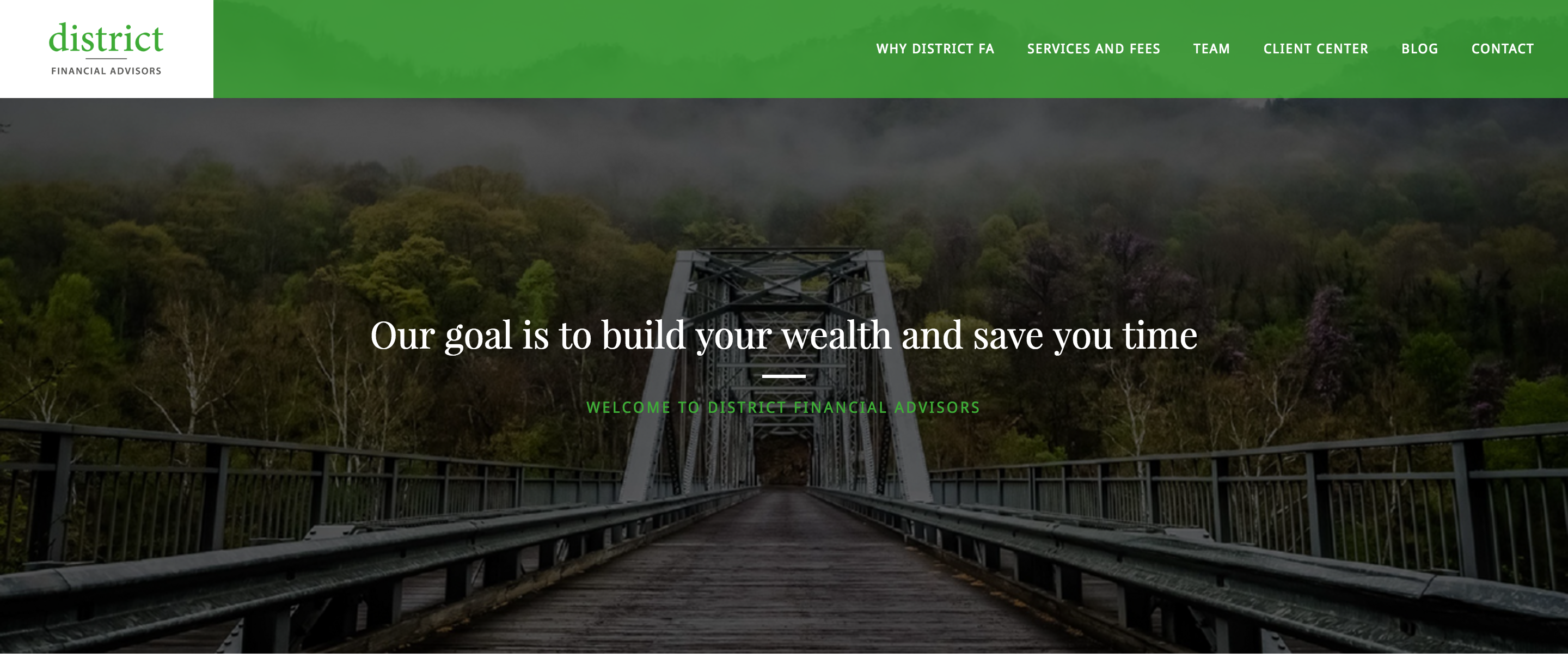 example of Financial Advisor Website