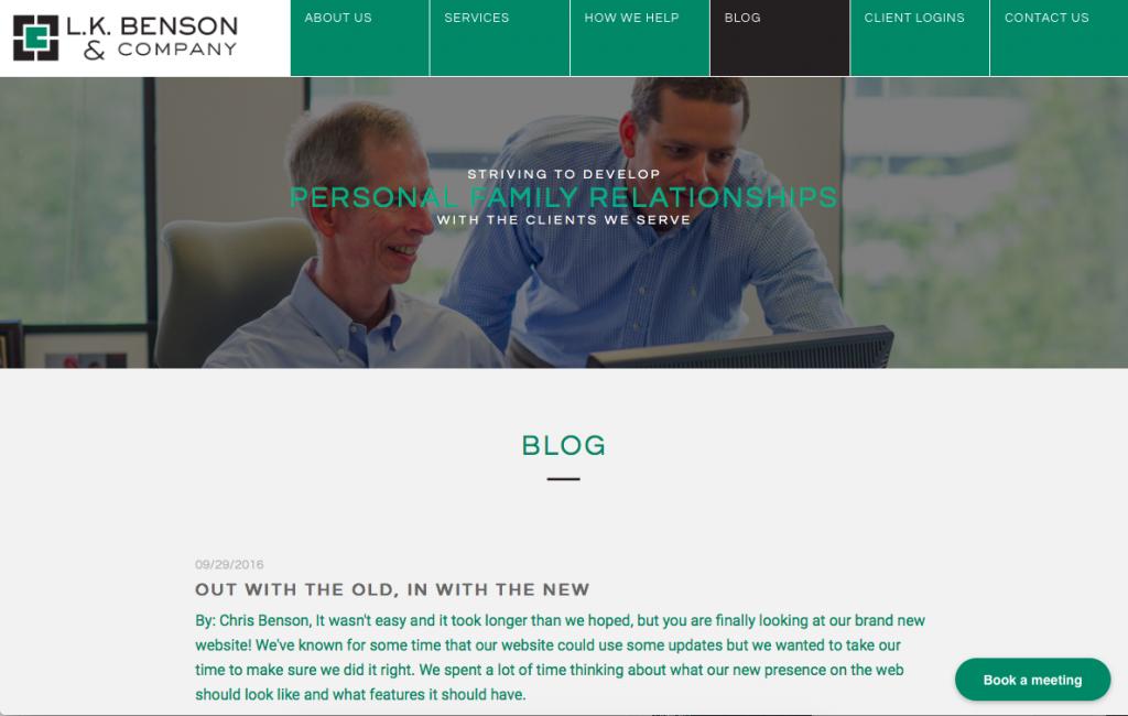 Financial Advisor L.K. Benson