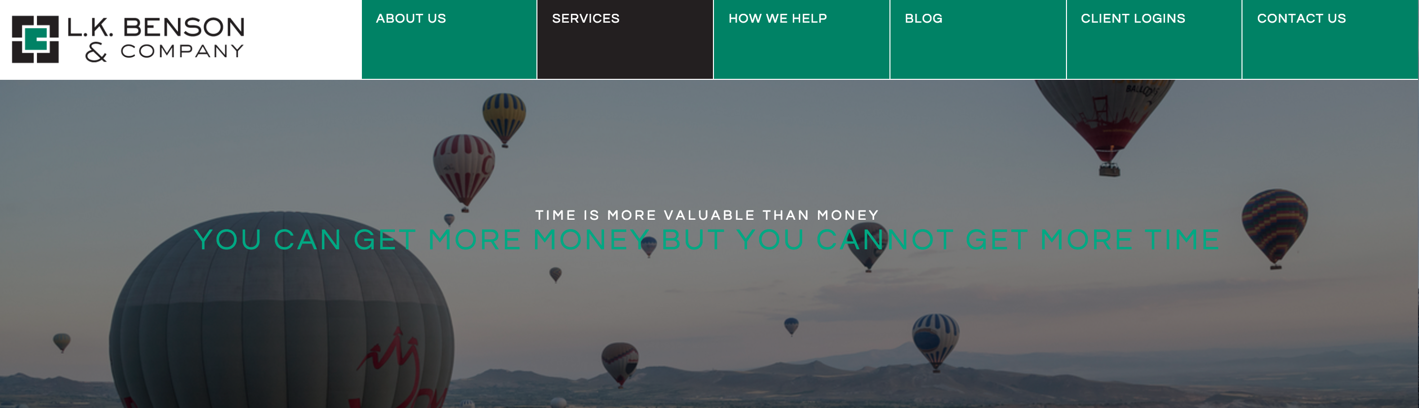 example of a great financial advisor website