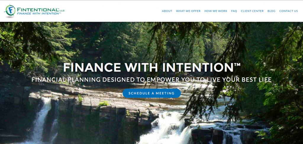 Fintentional Homepage