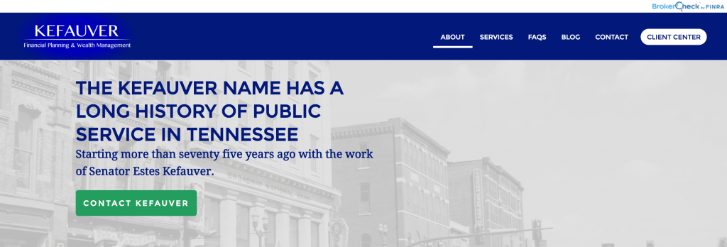Financial Advisor Website Landing Page