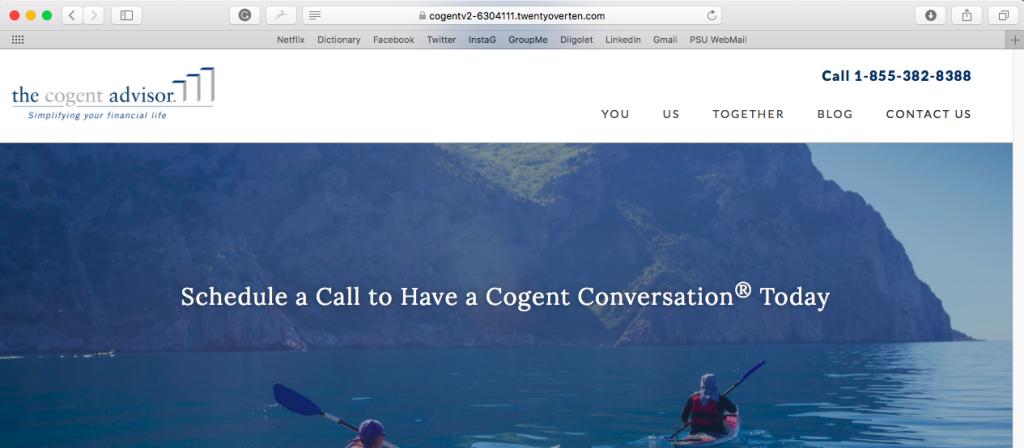 The Cogent Advisor Cogent Conversation Twenty Over Ten