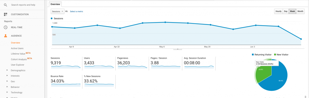 Google Analytics Who is visiting my website