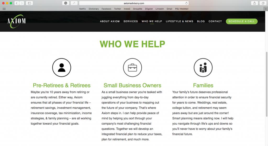 Marketing Personas for financial advisors