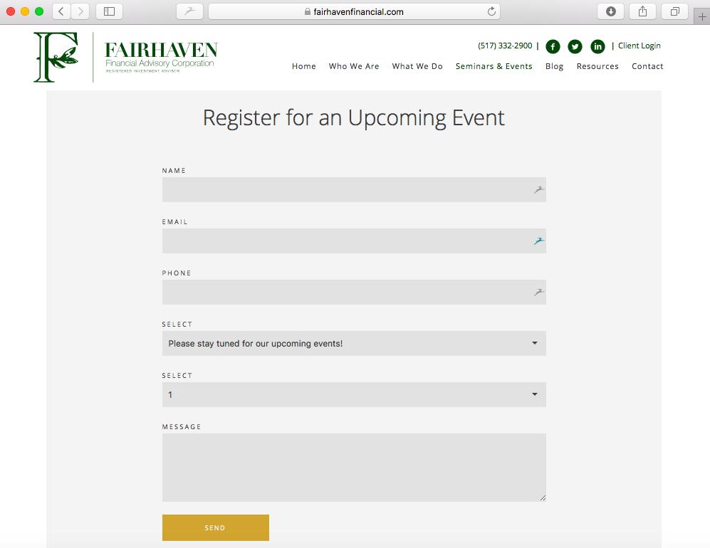 financial advisor website fairhaven financial