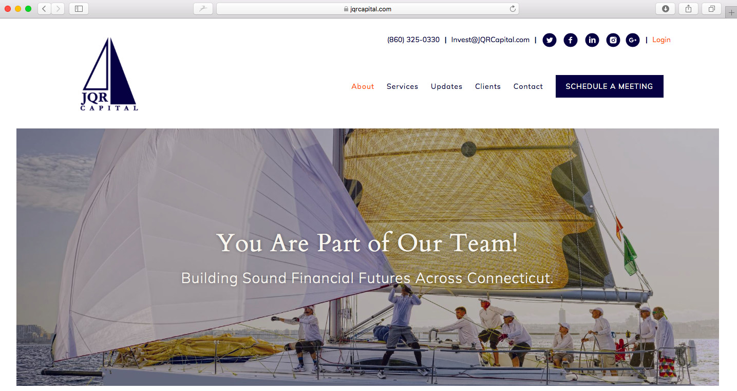 website header tag jqr capital