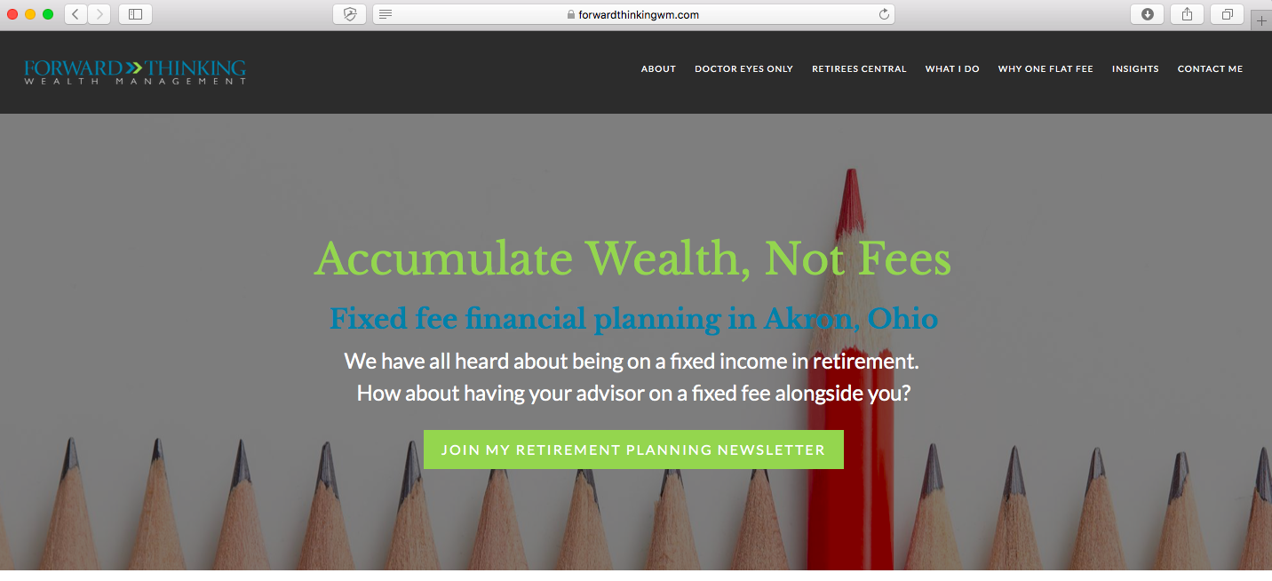 financial advisor website forward thinking wealth management