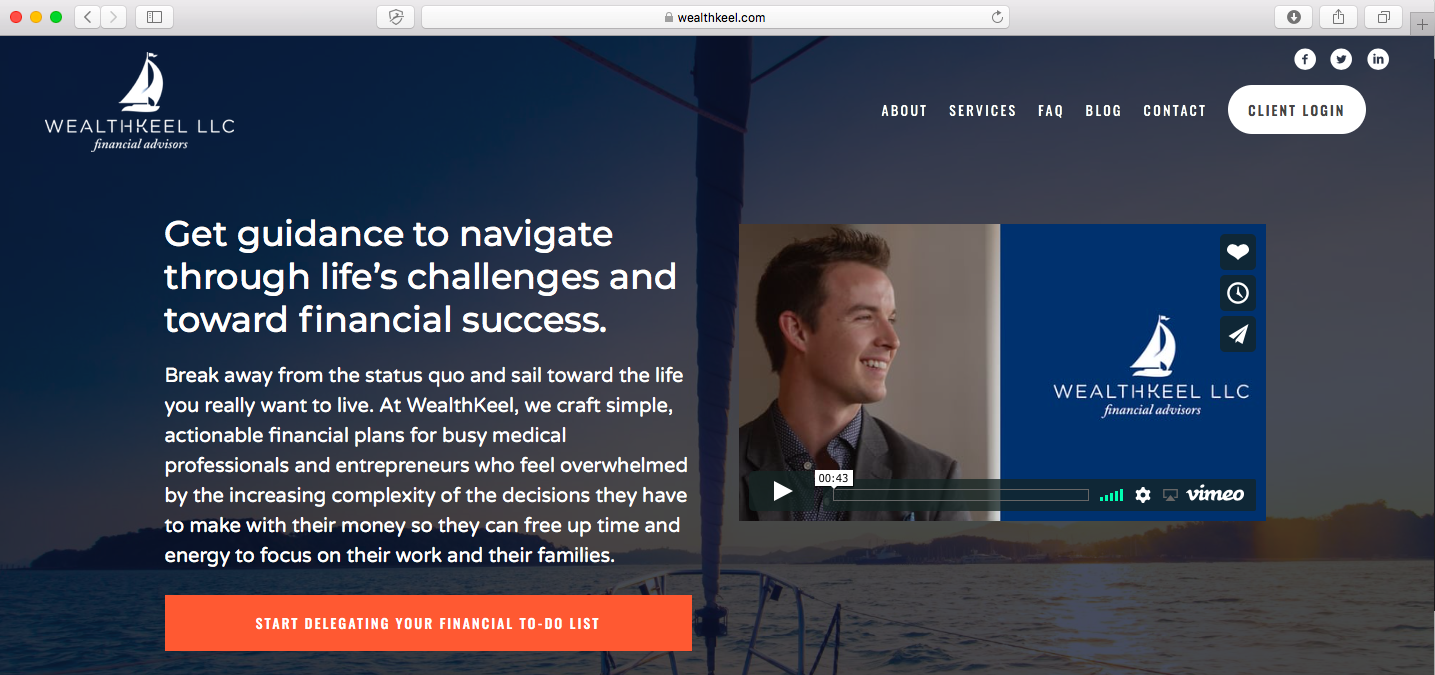 WealthKeel call to action