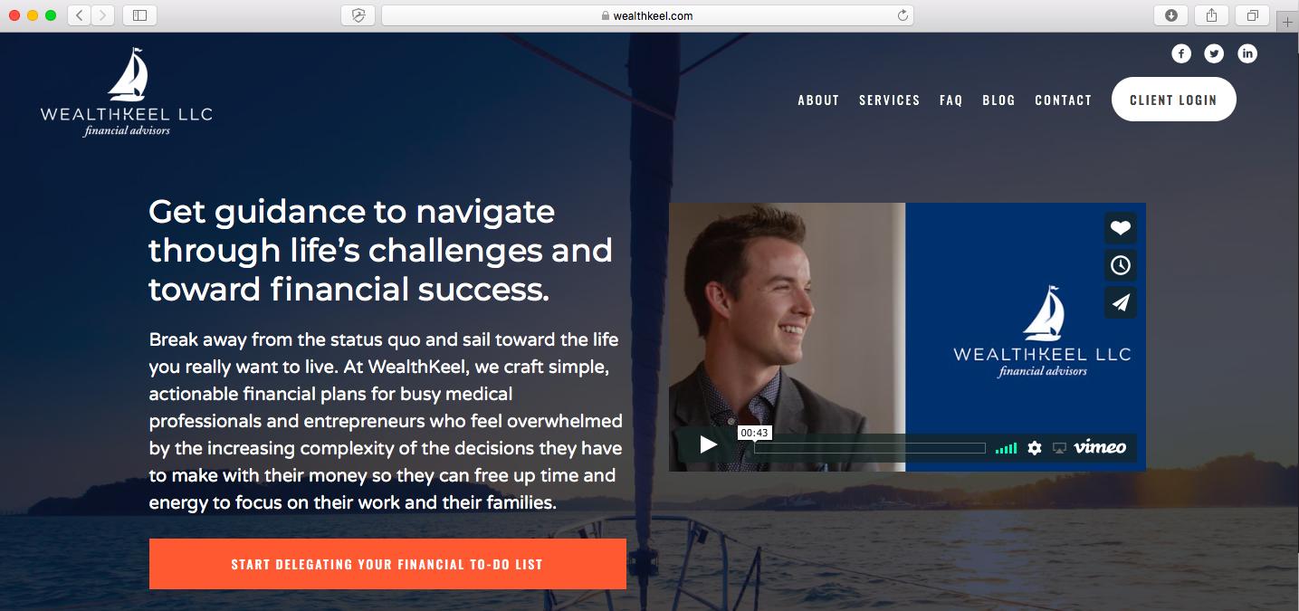 wealth keel llc financial advisor website