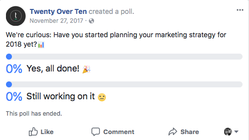 facebook poll example