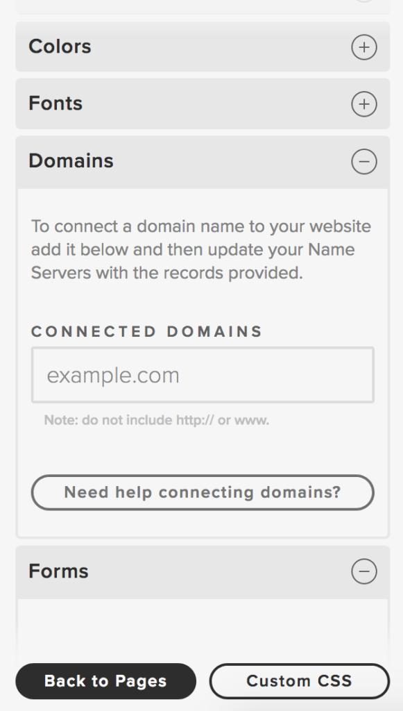 Adding your DNS
