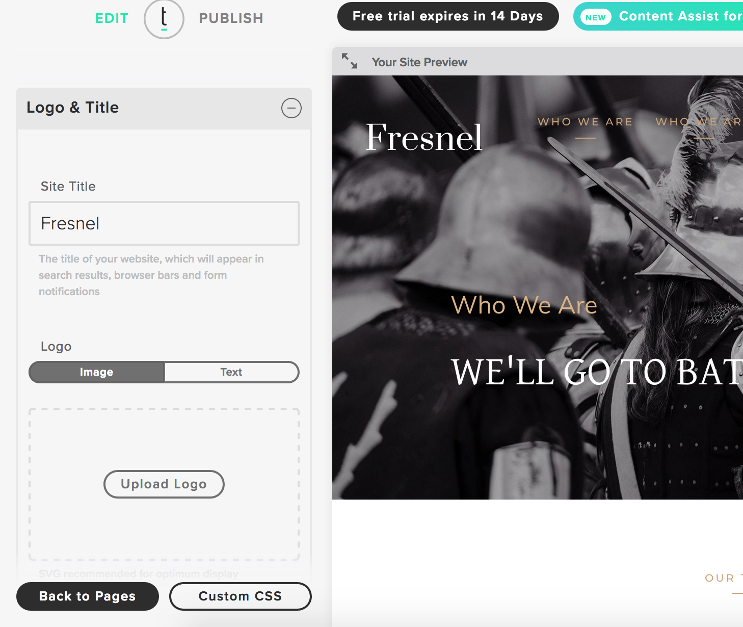 Adding a logo to your Twenty Over Ten website