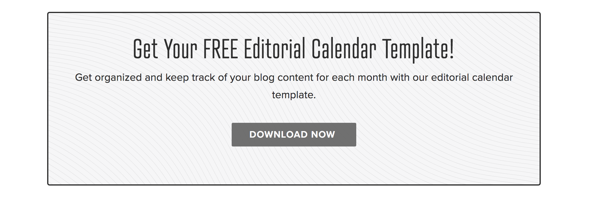 Free editorial calendar template for financial planning blogs