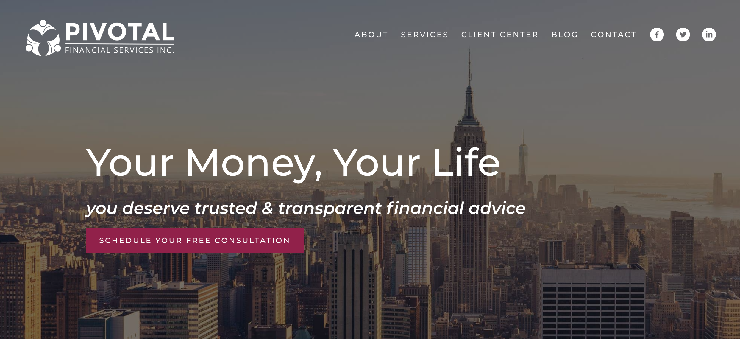 financial advisor website, pivotal financial services inc.
